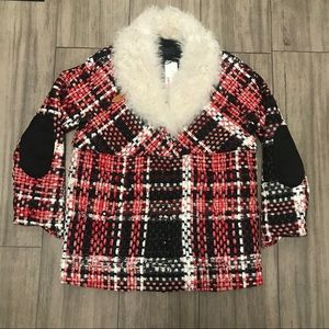 Rag & Bone Antione tweed jacket shearling (Italy)